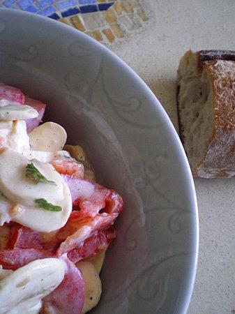 salade de champignons et tomates recettes light. Black Bedroom Furniture Sets. Home Design Ideas